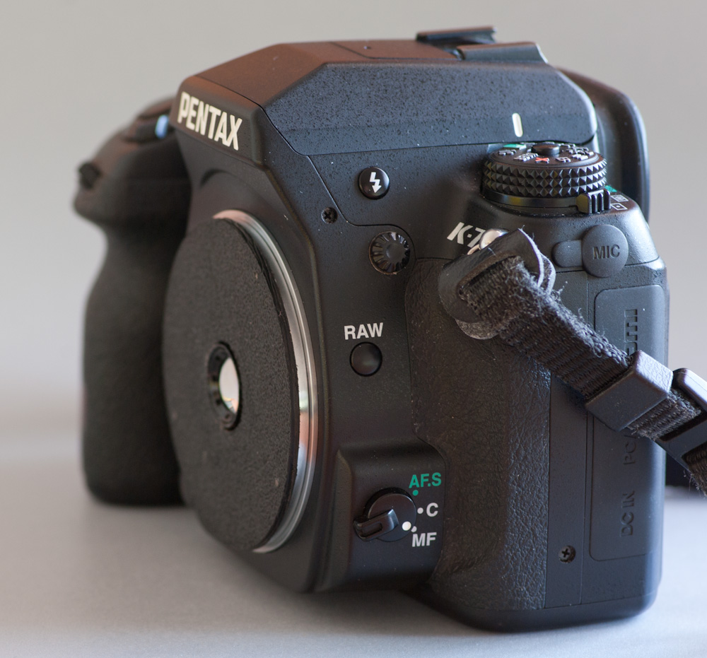 Worlds thinnest pancake lens on the Pentax K-7