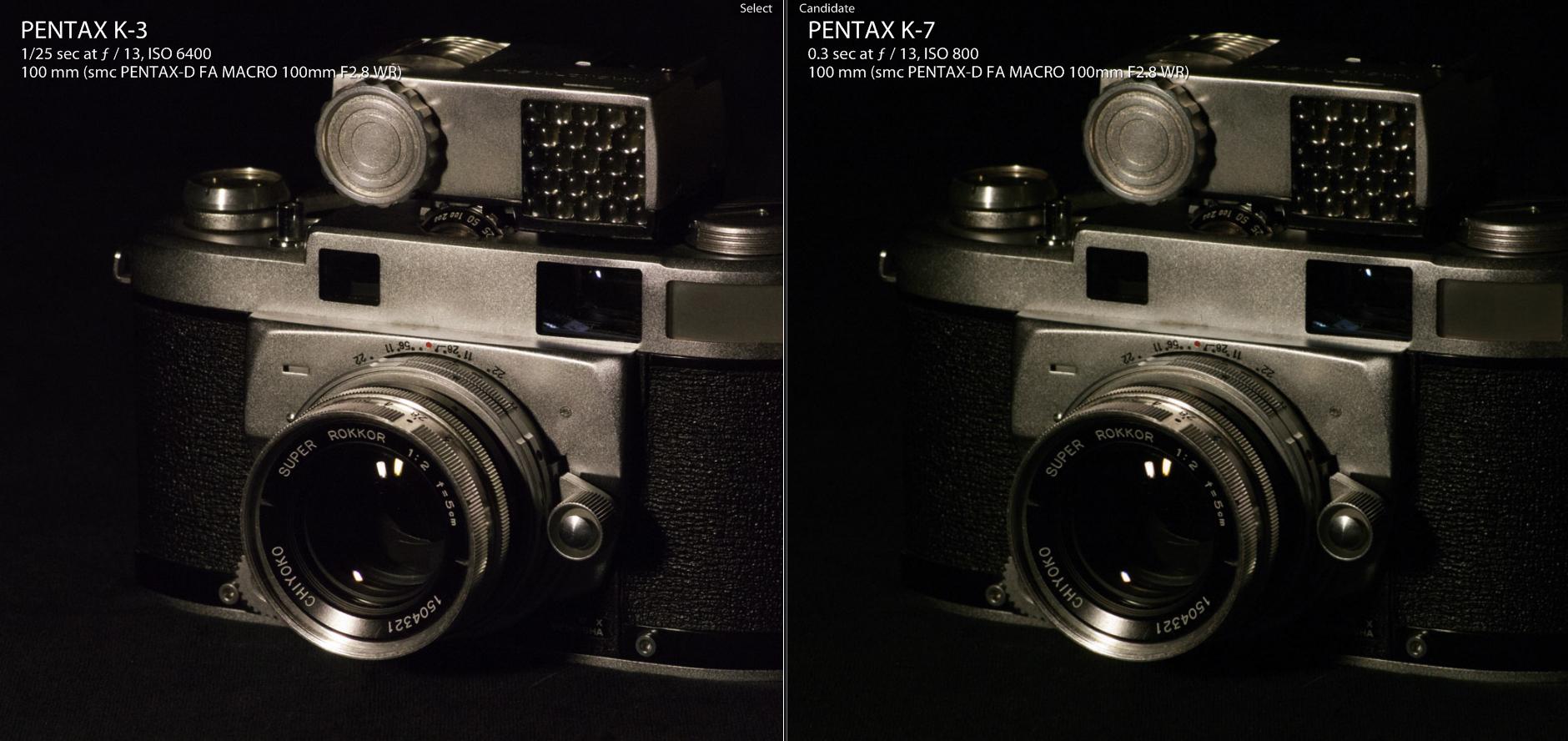PentaxK3_6400vsK7_800